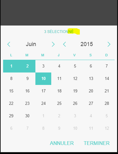 multiple select calendar