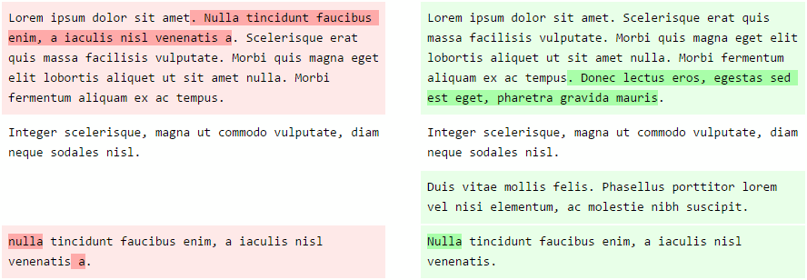 DiffText Example
