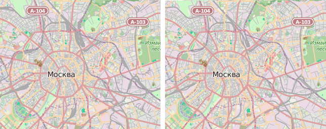rail - moscow before after