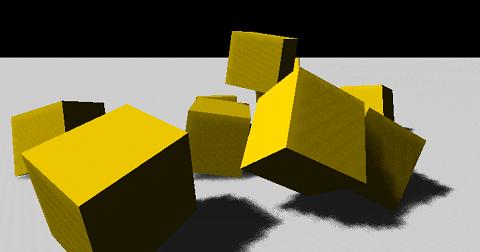Screenshot of PhysX cubes demo