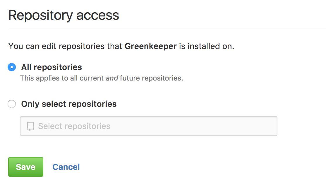 Choosing repositories