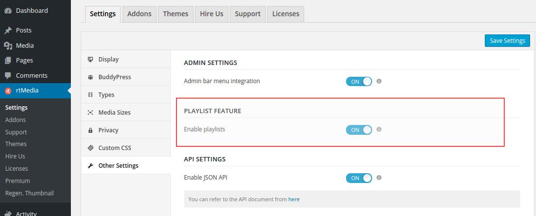 playlists-setting