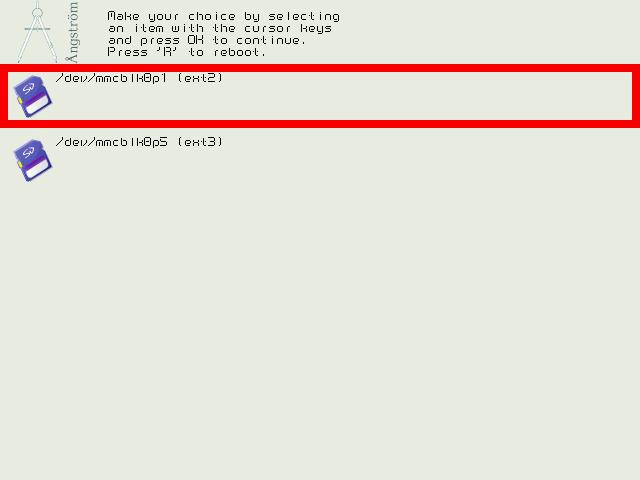 kexecboot v0.4 branded for Angstrom distribution
