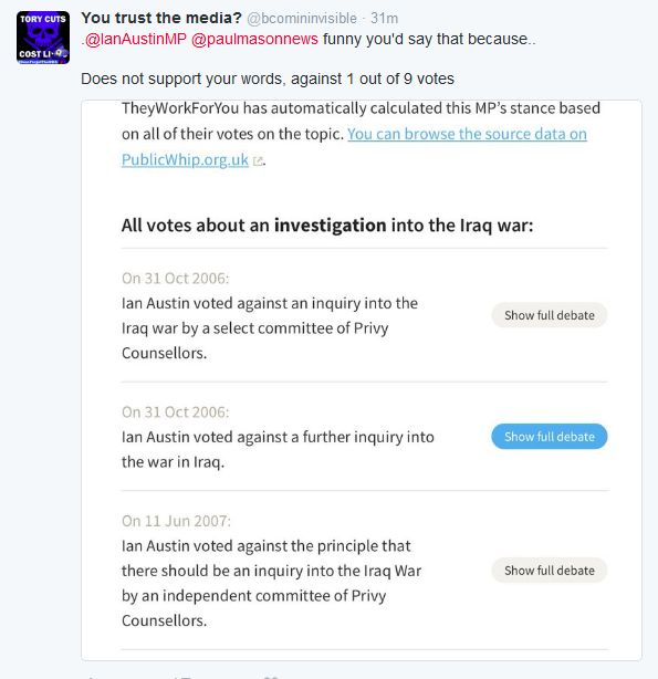fireshot screen capture 753 - ian austin on twitter_ __ paulmasonnews should check his facts_ i voted for this inquiry__ - twitter_com_ianaustinmp