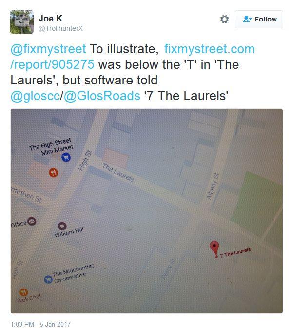 fireshot screen capture 968 - joe k on twitter_ _ fixmystreet to illustrate https___t_co_awn_ - twitter_com_trollhunterx_status_816993589213466624