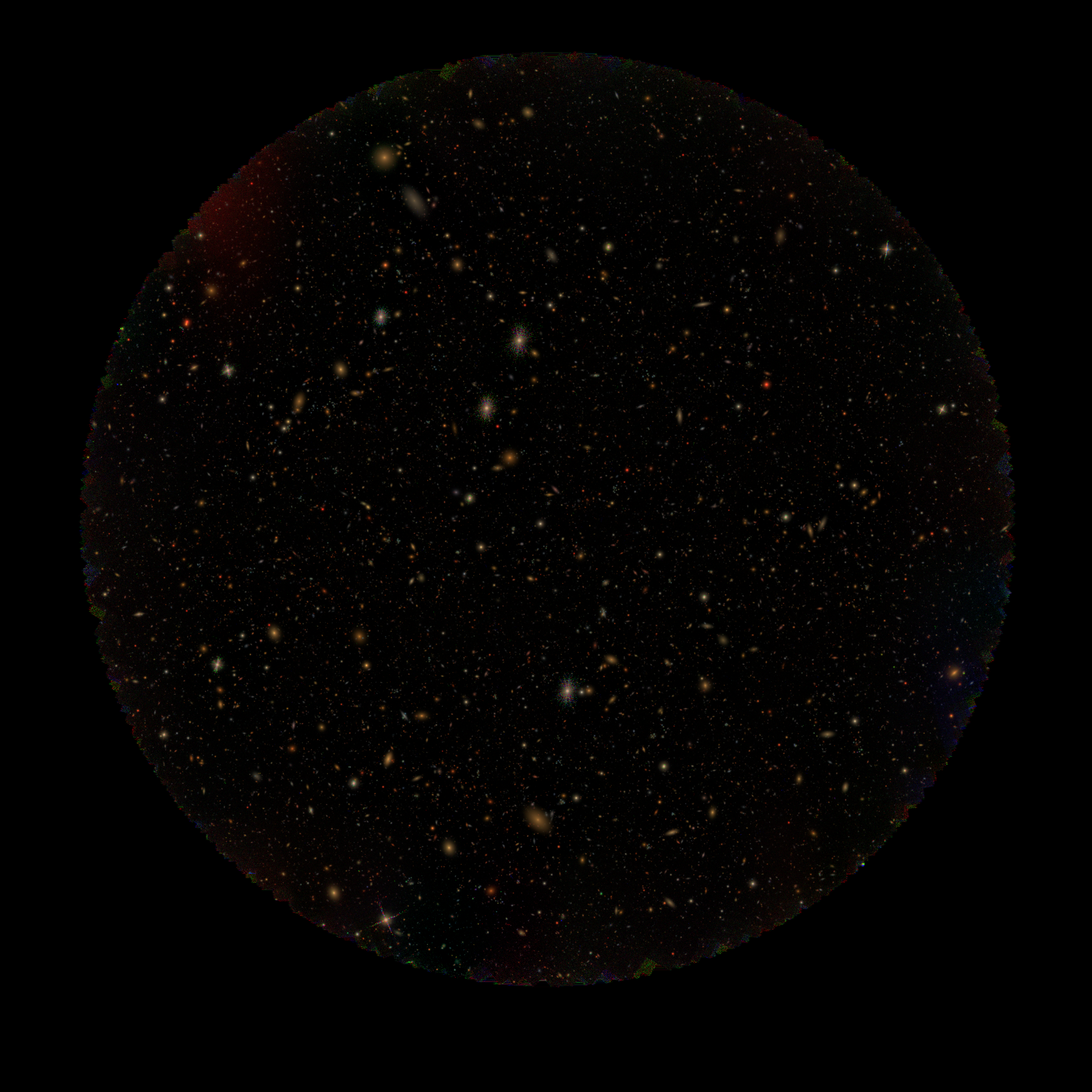 Co-add image from a few hundred gri images of the Twinkles 1 field, from Run 1.1