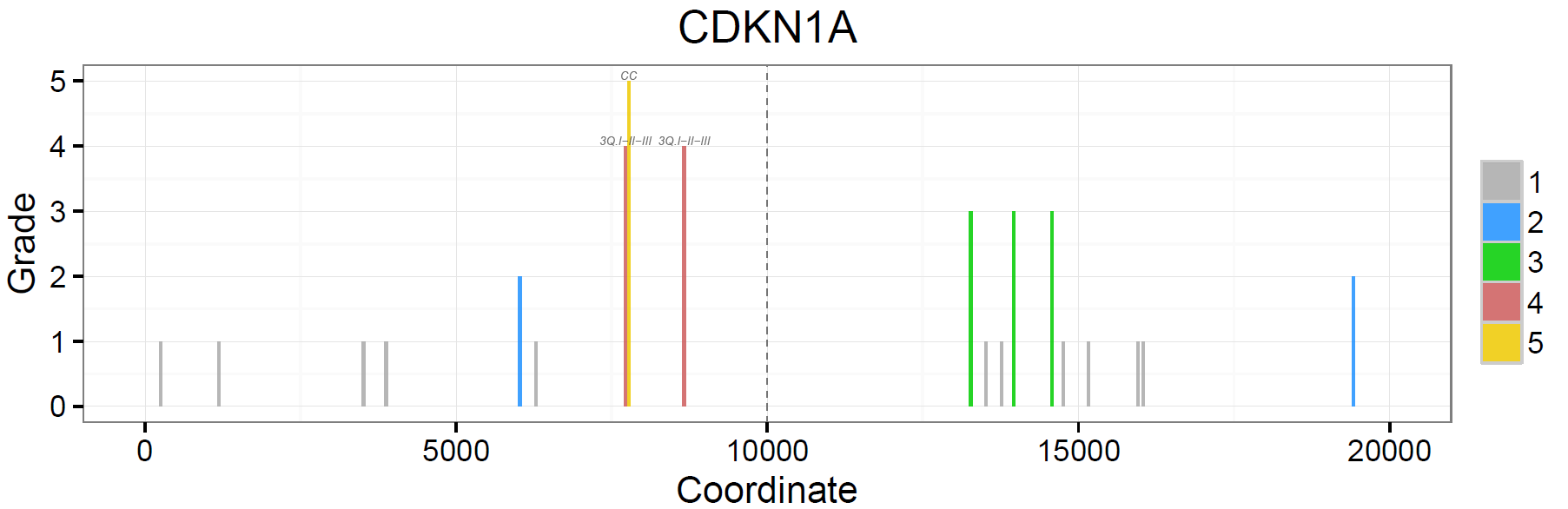 p53 REs identified in the promoter of CDKN1A