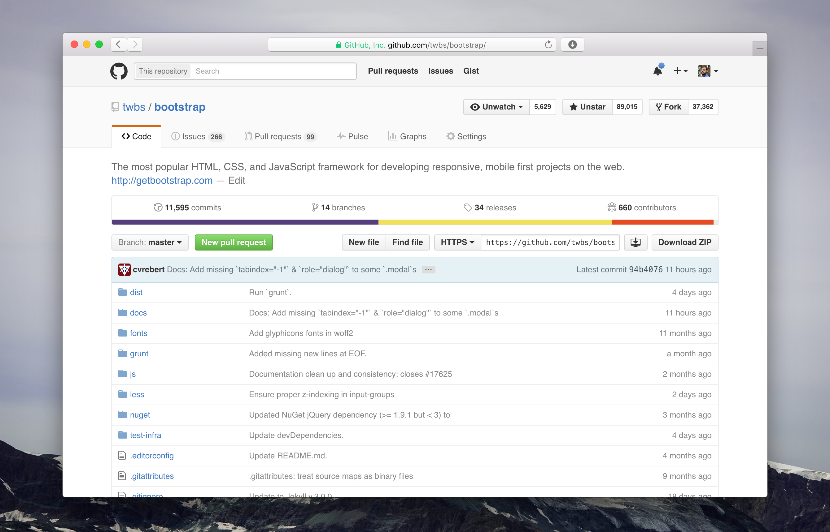 New GitHub repository screenshot