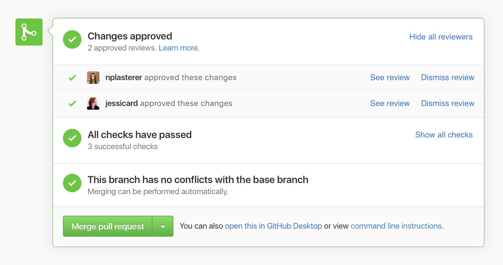 Dismiss reviews on GitHub