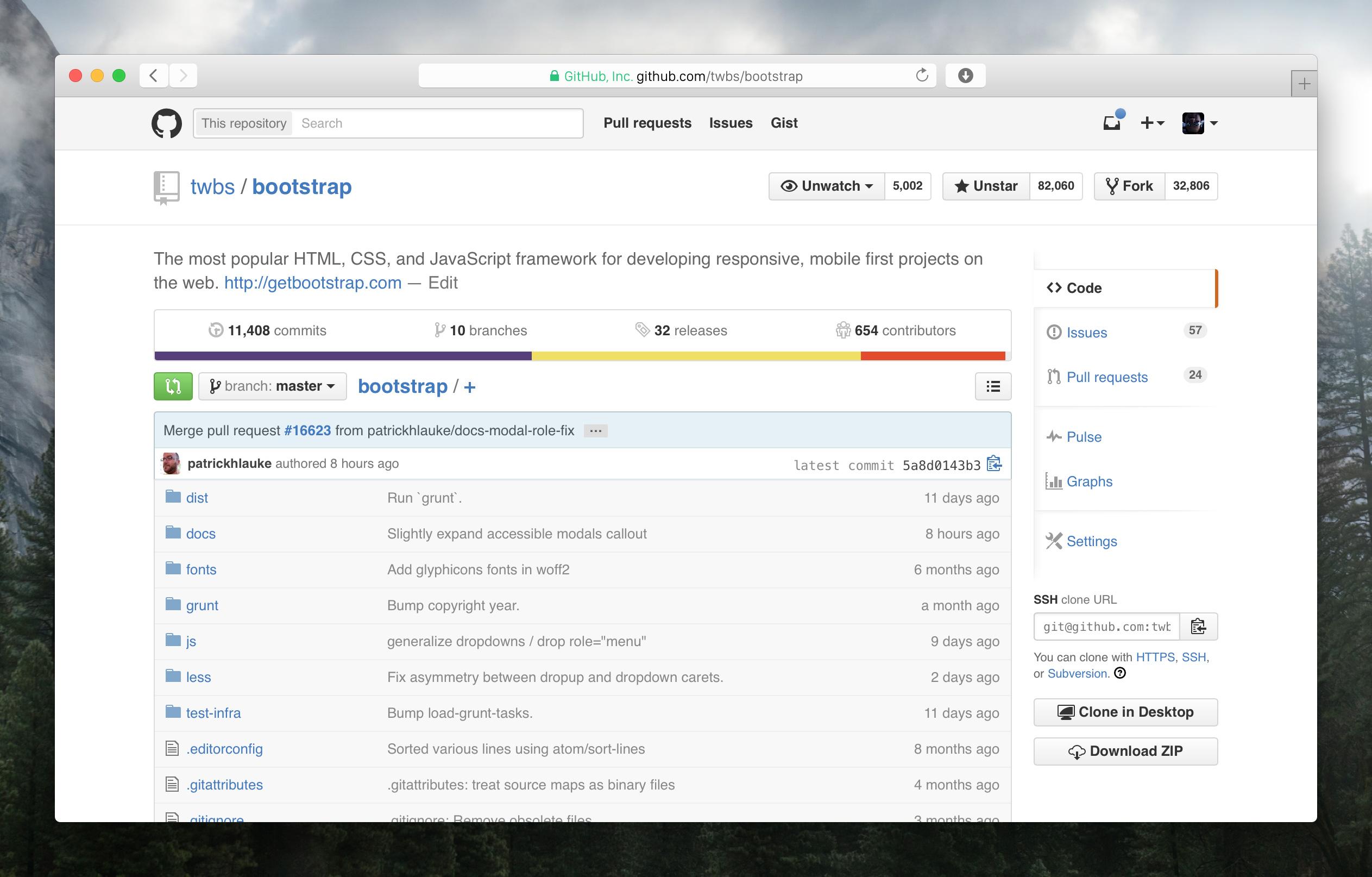 New GitHub header