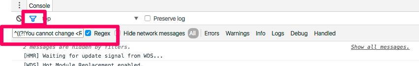 Screenshot of Chrome Dev Tools
